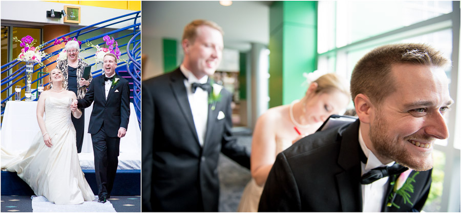 Funny wedding moments at Indianapolis Children's Museum