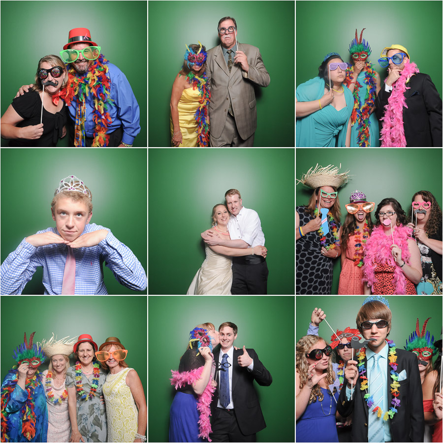 Awesome wedding photobooth action from TALL+small in Indianapolis