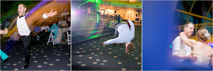 Fun and silly wedding dancing moments at Indy Kids Museum