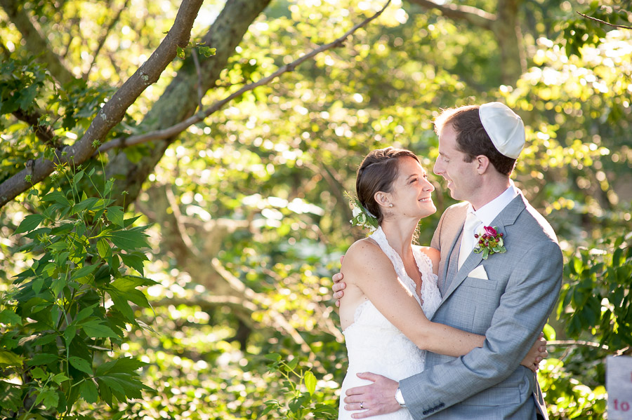 romantic, happy, wedding couple in forest at wintergreen resort in virginia