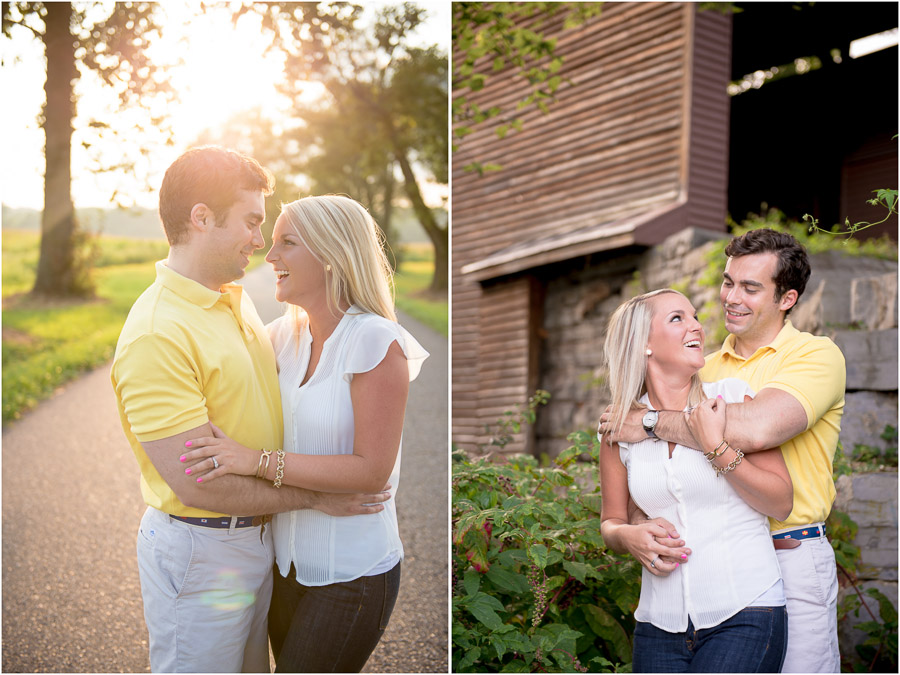sunny, farm, covered bride engagement photos in New Market, Virginia