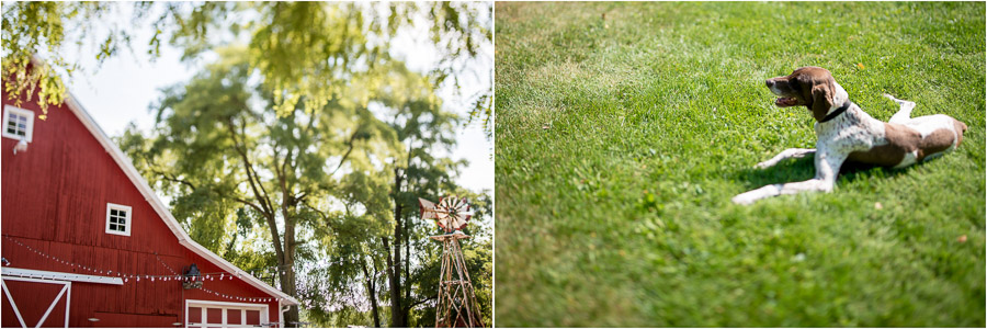 fun, creative, pre-wedding ceremony details at Dull's Tree Farm in Thornton, Indiana