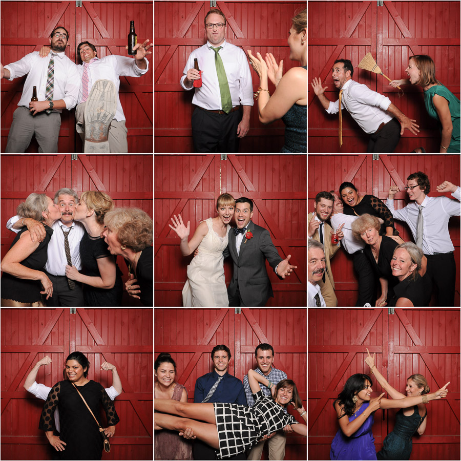hilarious, creative, unique, colorful wedding photobooth photos