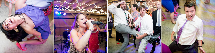 hilarious, funny, quirky moments on the dance floor at Indiana farm wedding
