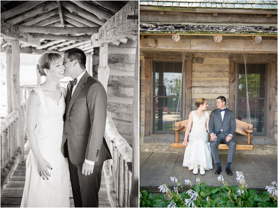 romantic, sweet and fun bride and groom portraits at wedding near Indianapolis