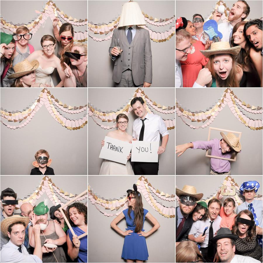 hilarious, fun, silly, wedding photobooth pics at downtown Indianapolis wedding