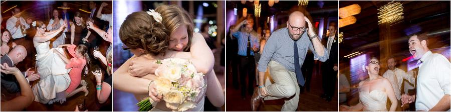fun and funky dance floor photos at Mavris Art Center wedding