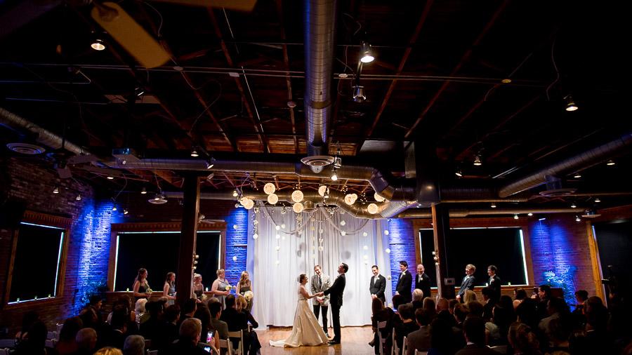 Sweet, touching, funny, moment at Mavris Art Center wedding ceremony