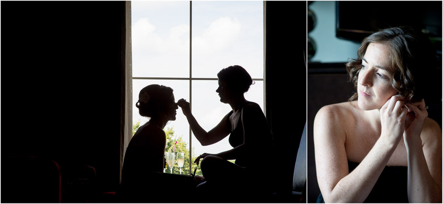 artistic, creative photos of bride getting ready for Virginia winery wedding