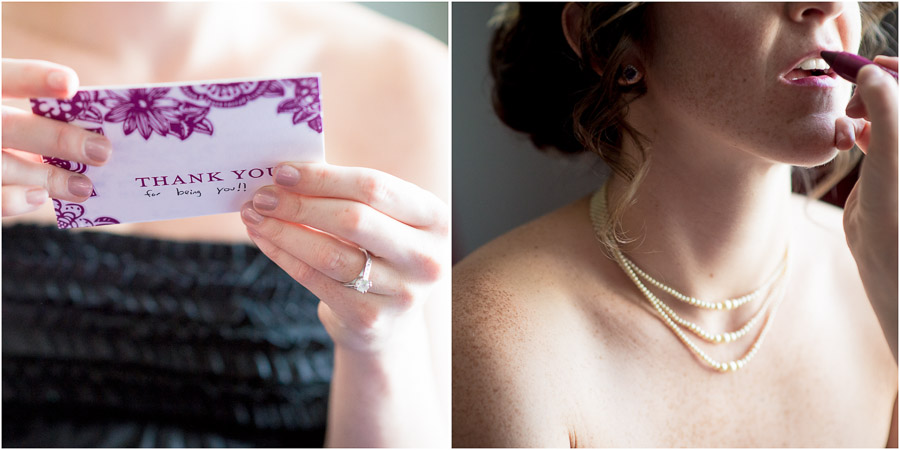 artistic, unique getting ready photos of bride at Bluemont Vineyard wedding