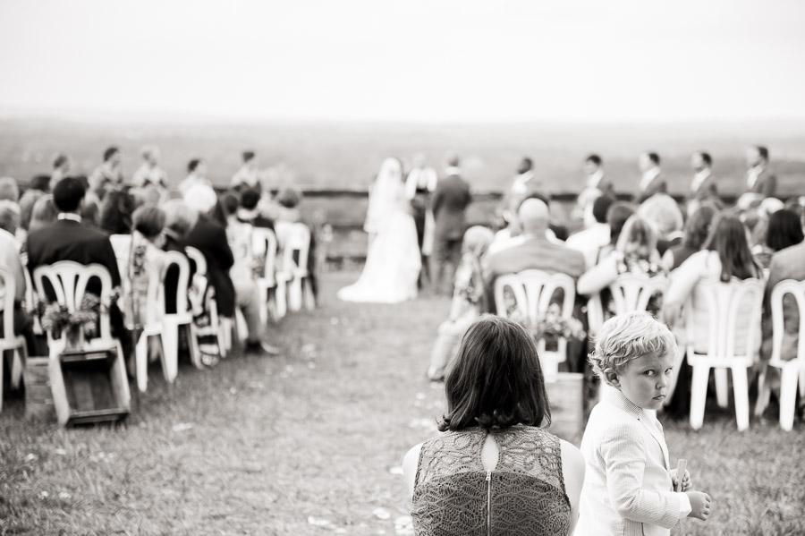 funny ceremony moment at Bluemont Vineyard wedding
