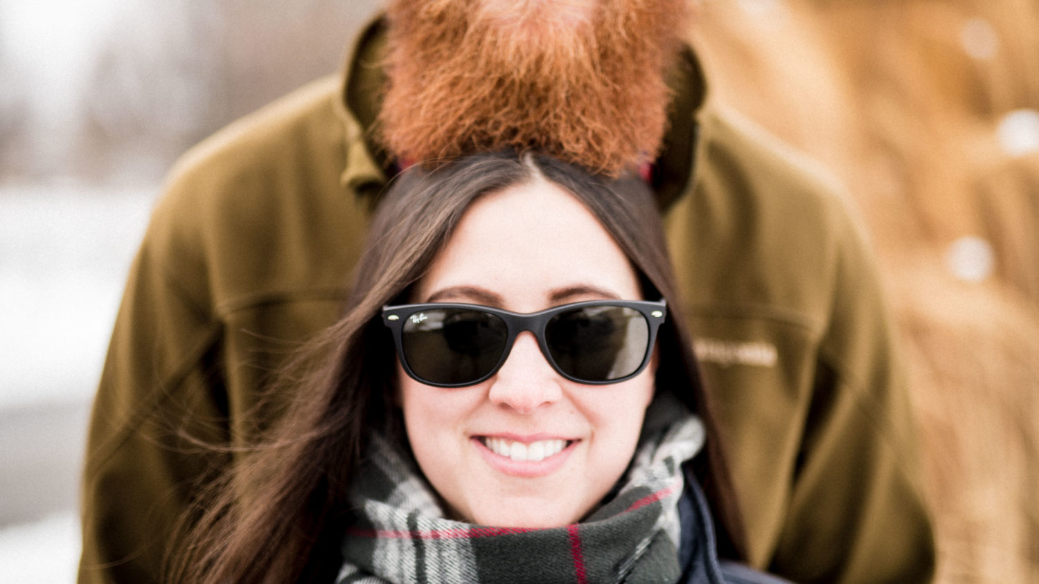 Hip and fun beard-y engagement photo