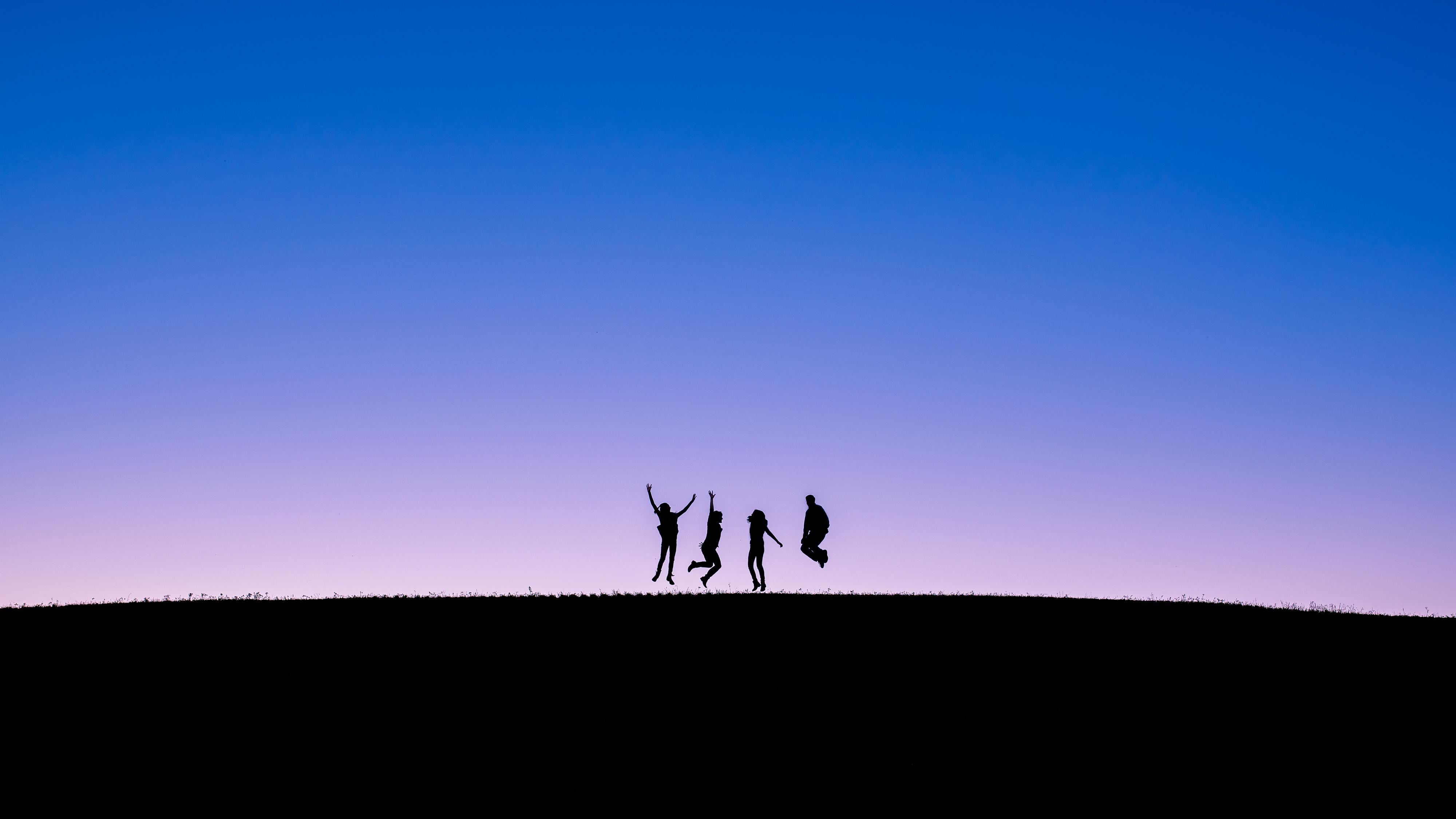 Minimalist silhouette family photos