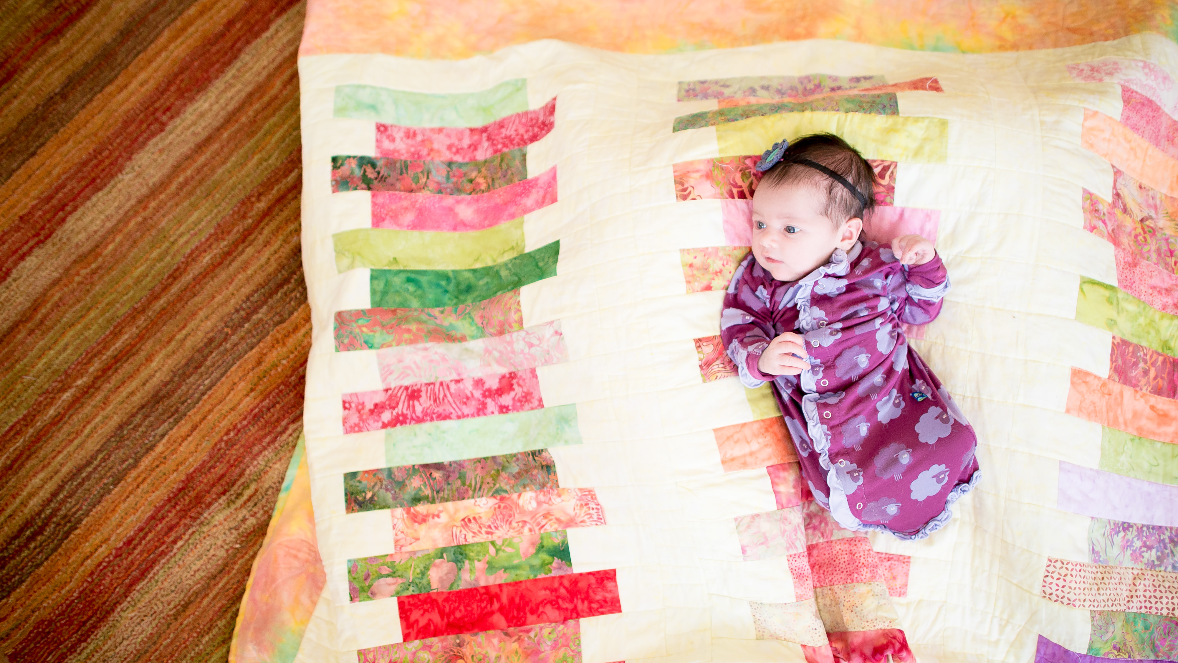 colorful and modern baby photography