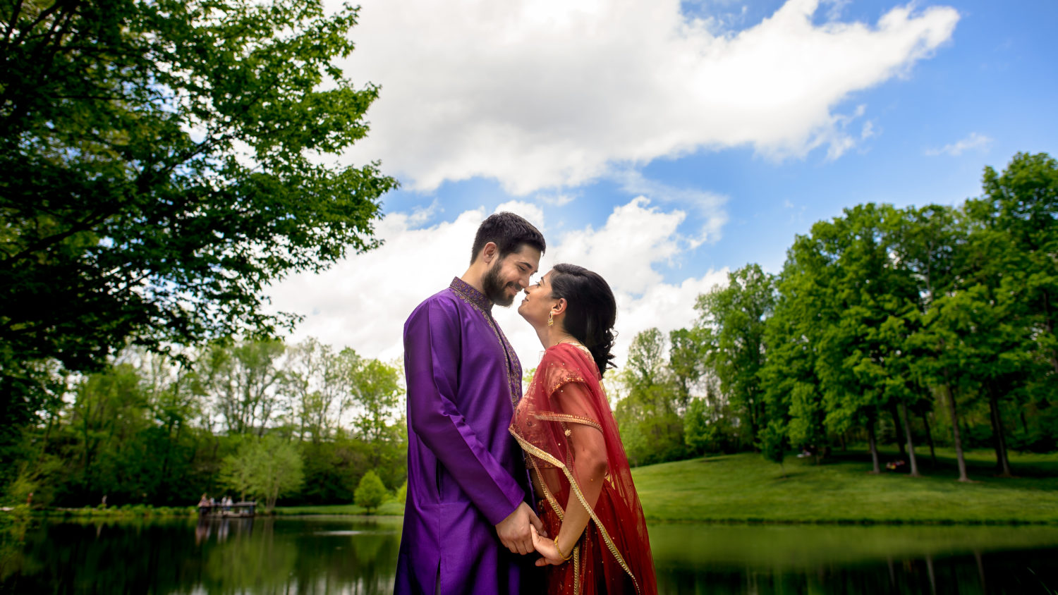 beautiful traditional indian clothing engagement photos