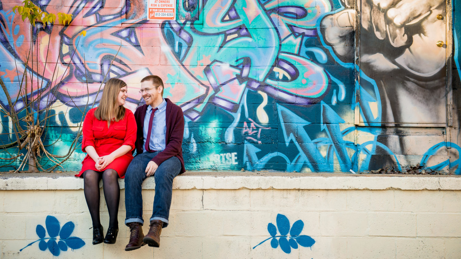 colorful and chill engagement photos