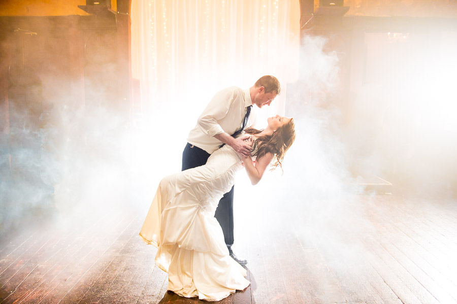 Awesome wedding portrait on dancefloor in Indianapolis by TALL+small