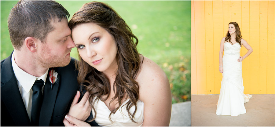 Colorful downtown Indy wedding portraits