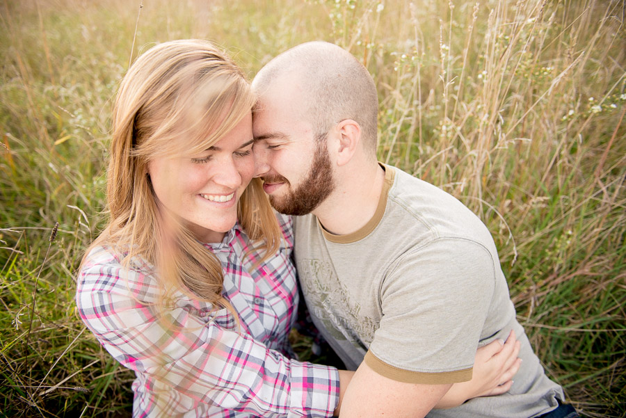 Cozy, cute, and candid engagement photos in brown county state park near bloomington