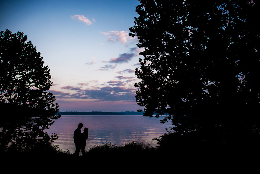 Fun fall engagement photos, Lake Lemon