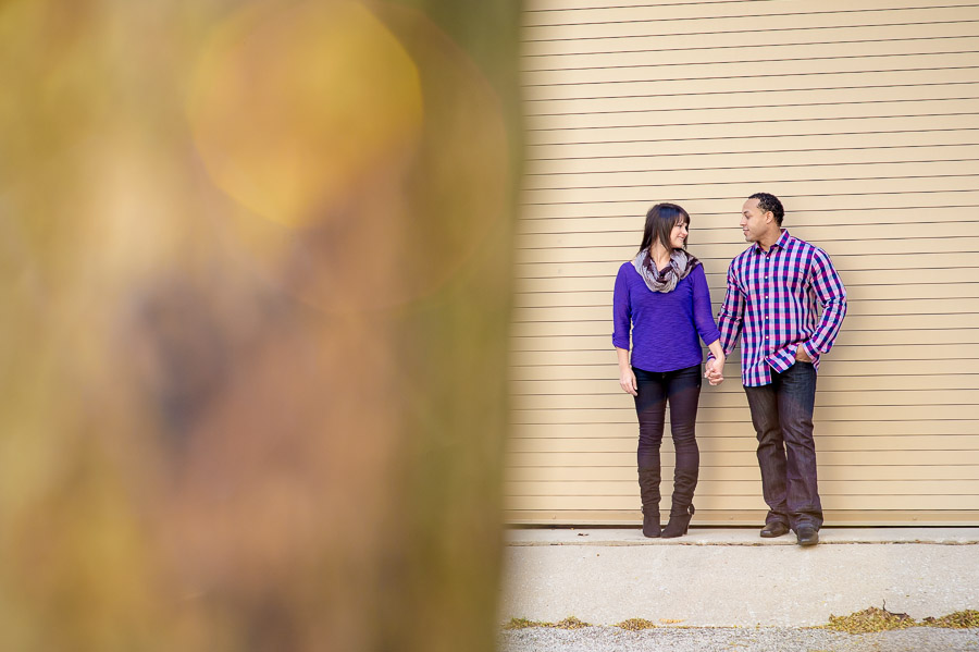 Cool and colorful engagement pics on IU's Bloomington Campus