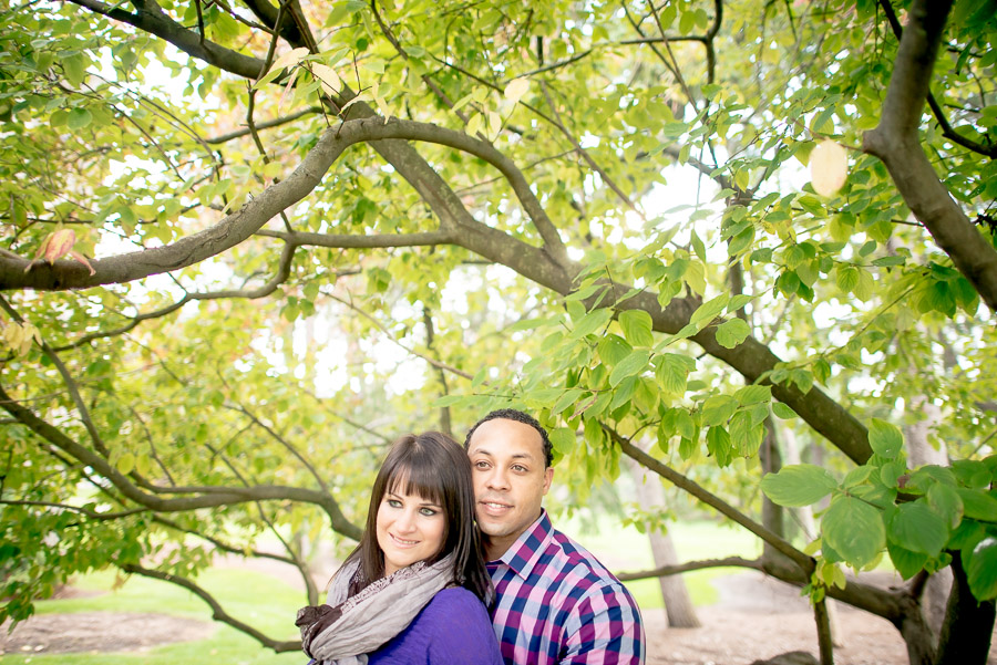 Nice, colorful, and casual engagement pics on IU-Bloomington's Campus
