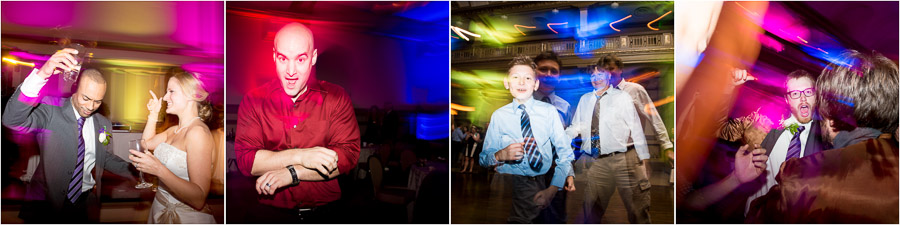 Colorful and fun dancefloor pics at Richmond, VA wedding