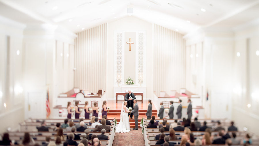Gorgeous, interesting, wedding ceremony photo in Richmond, Virginia