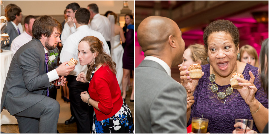 Funny cupcake moments at Richmond, Virginia wedding