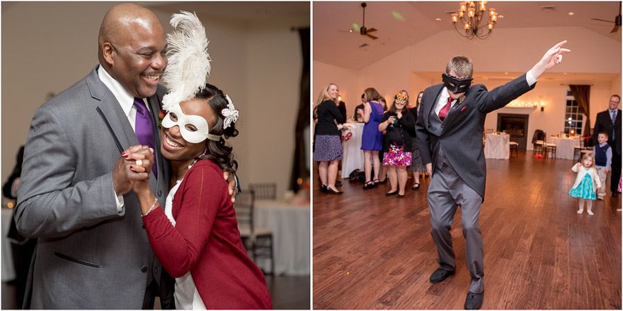 Fun dancing moments at Fredericksburg, VA wedding.