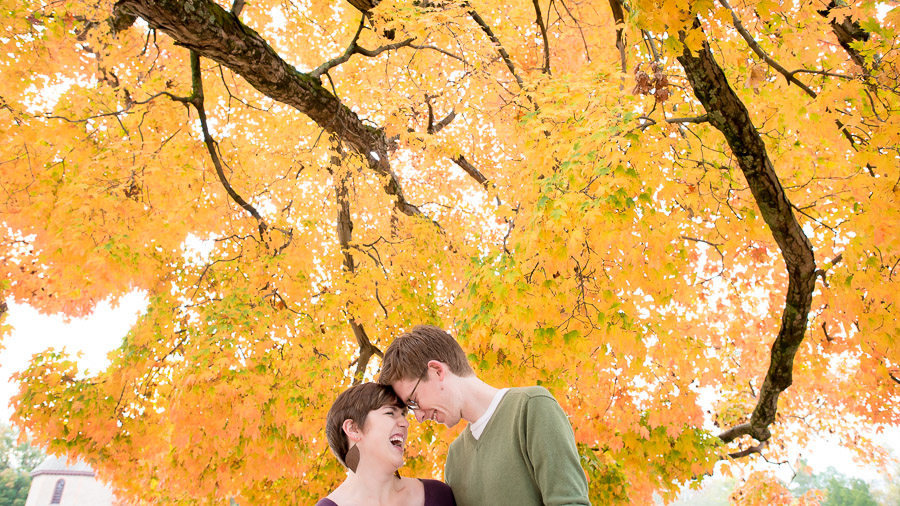 Colorful, Fall engagement session at Colonial Williamsburg, Virginia
