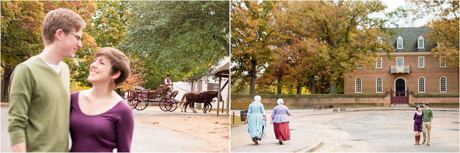 Fun and quirky engagement photos at Colonial Williamsburg in Virginia