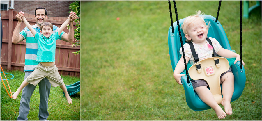 unposed, natural, family photos in Bloomington, Indiana