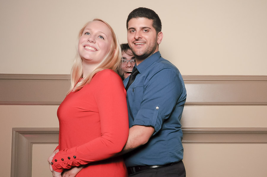 Very creepy photobomb photobooth photo at Richmond Virginia wedding