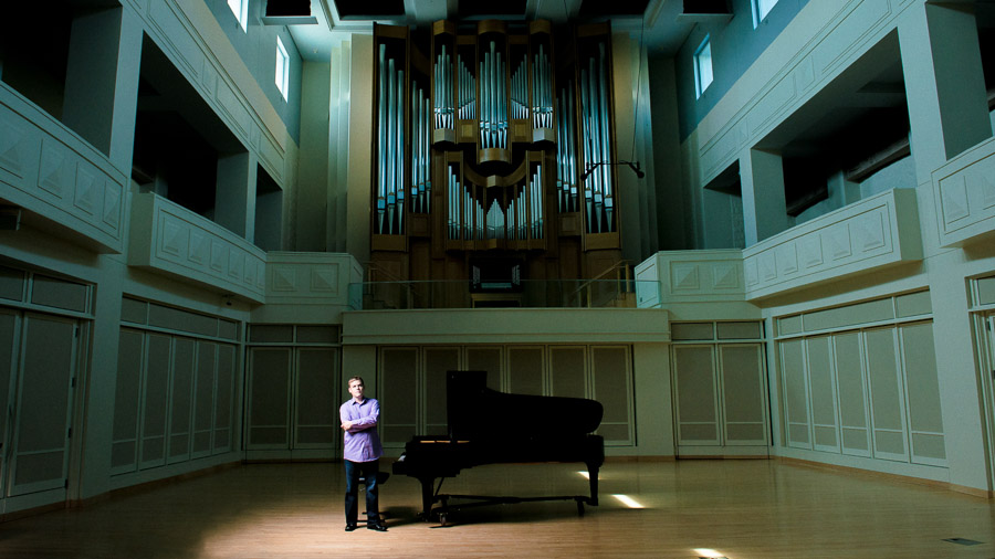 Dramatic, interesting and different portraits for IU Jacobs School of Music
