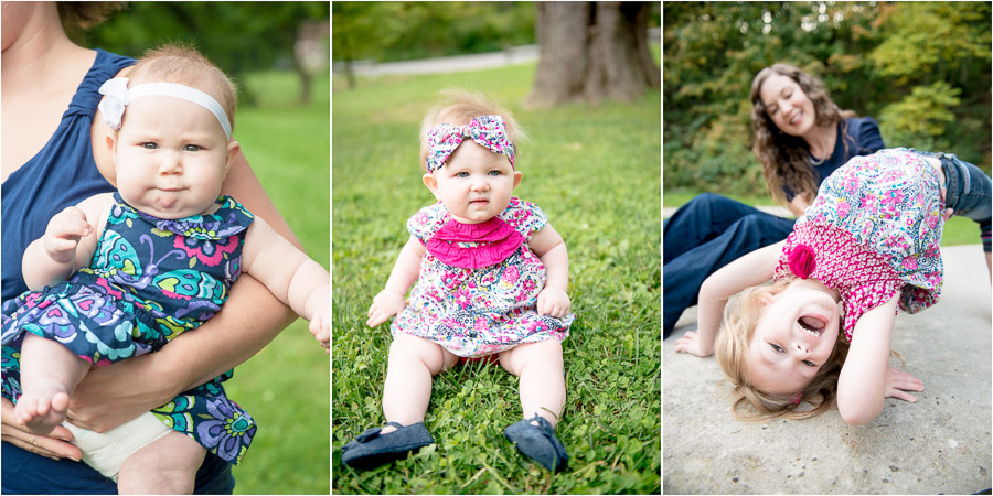 Chubby little babies with hair bows! Cute pics from family sessions.