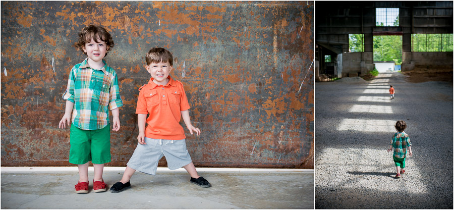 Adorable three year old twins photoshoot in Bloomington, Indiana