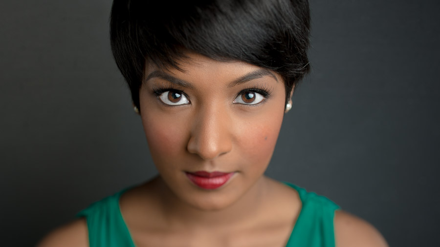 Gorgeous headshot of an Indiana University opera singer by TALL + small Photography