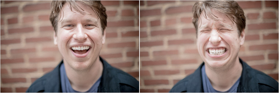 Funny portraits of comedian, Pete Holmes by TALL + small Photography