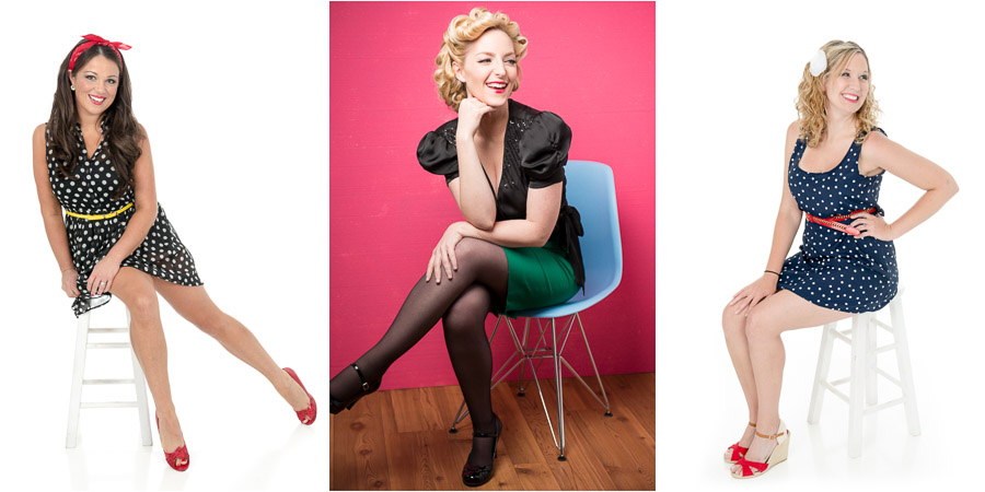 Bloomington, Indiana pin-up, glamorous portraits by TALL + small Photography