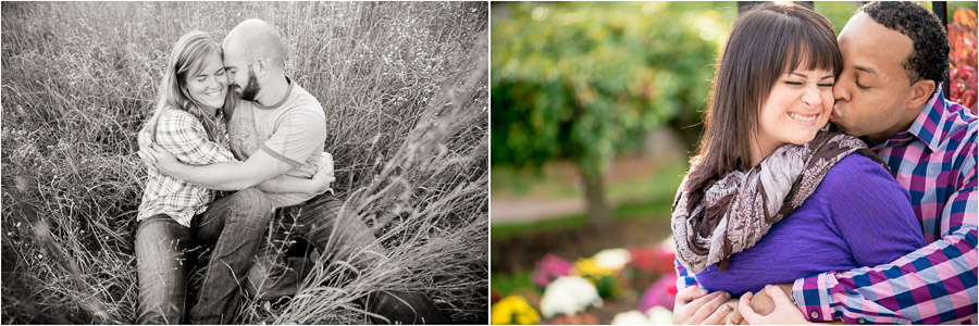 Cuddly couples at engagement session by Indiana photographers, TALL + small Photography