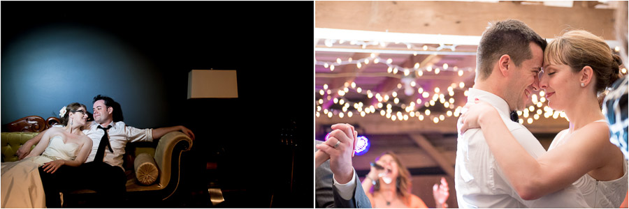 Sweet, romantic, portraits of bride and groom at end of wedding night by TALL + small Photography