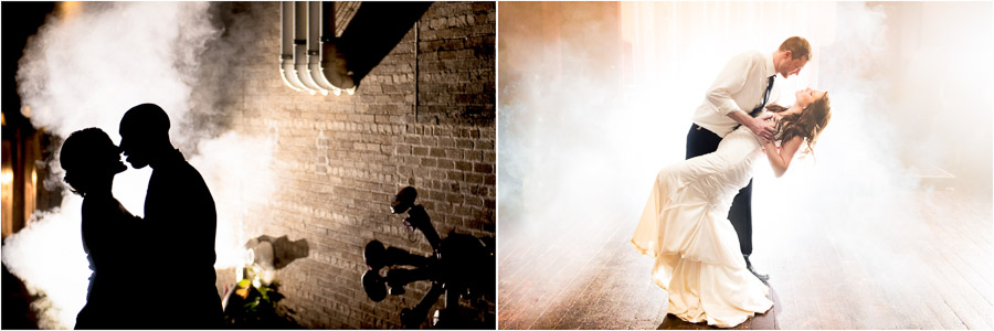 Fog in photos! In an alley and on the dance floor, by TALL + small Photography