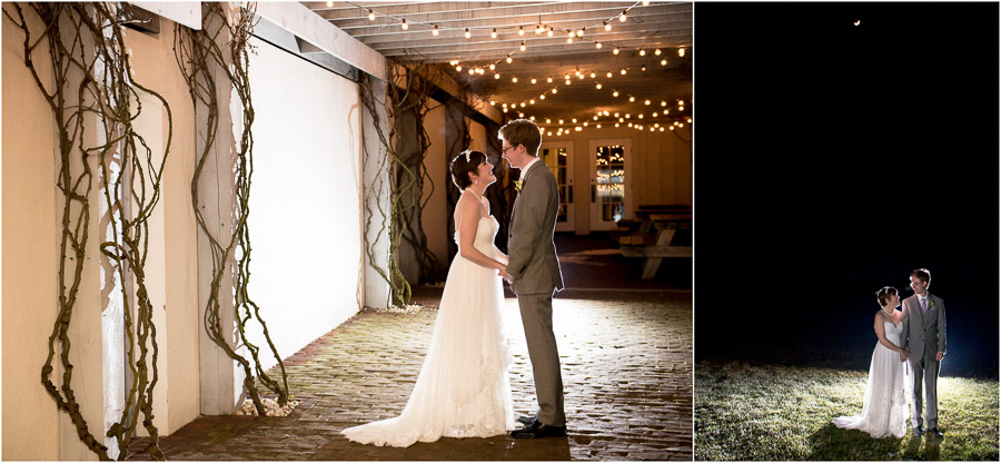 Gorgeous, fun, winter, outdoor bride and groom portraits at King Family Vineyards