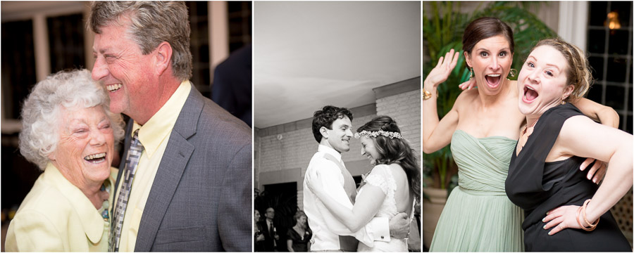 Fun times and big smiles on the dance floor at Laurel Hall wedding in Indianapolis
