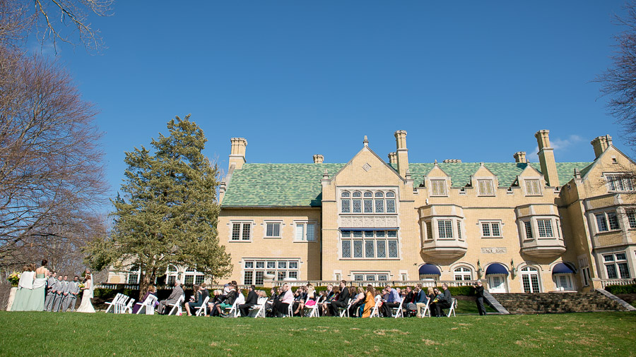 Beautiful outdoor ceremony at Laurel Hall wedding in Indiana