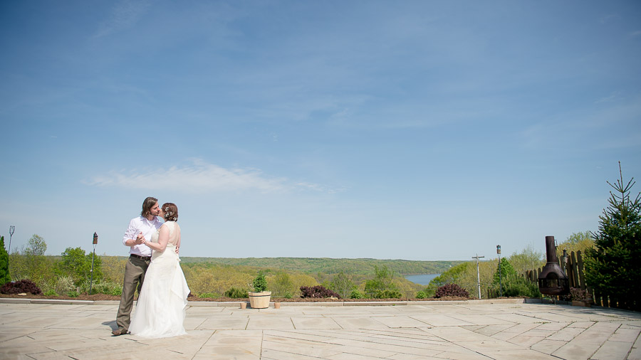 Beautiful wedding at Scenic View Lodge overlooking Lake Monroe in Bloomington, IN