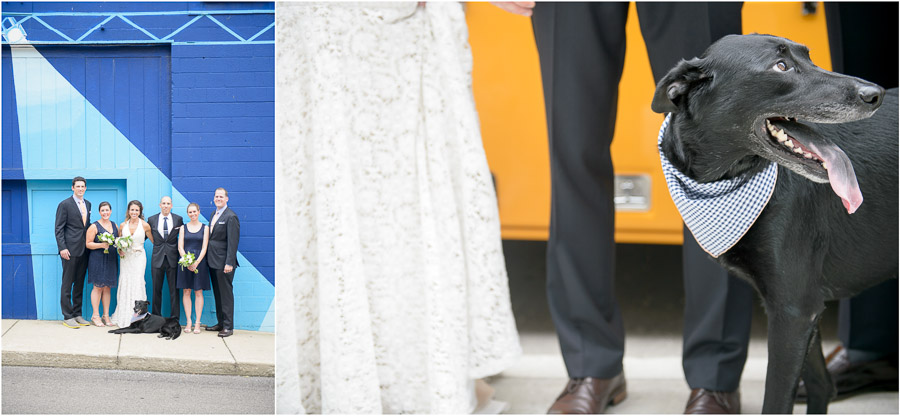 Hip downtown wedding portraits by TALL+small.