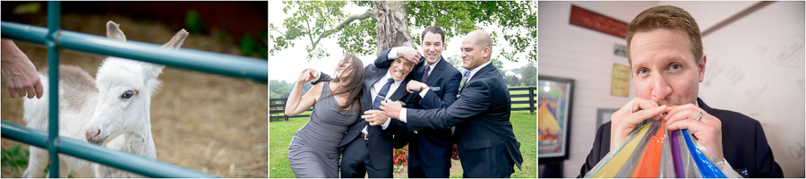 Fun candid wedding moments at Sycamore Farm. TALLsmall Photo.