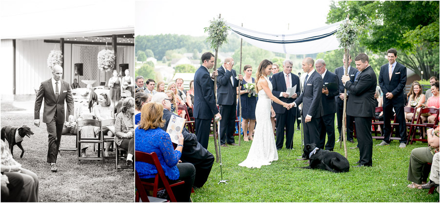 Jewish wedding ceremony at Sycamore Farm in Bloomington by TALL and small Photography.